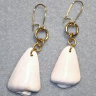 Blush Cone Shell Earrings - Item #E371