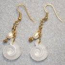 Shell N' Pearl Earrings - Item #E372