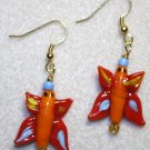 Lampwork Butterfly Earrings - Item #E376