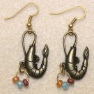Shrimp N' Bead Earrings, Design 2 - Item #E388