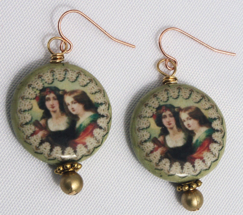 Vintage Mother N' Daughter Earrings - Item #E401