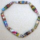 Bohemian-Style Paper Bead Bracelet - Item #BES4