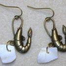 Accented Shrimp Earrings, Design 6 - Item #E438