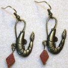 Accented Shrimp Earrings, Design 18 - Item #E450