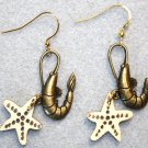 Accented Shrimp Earrings, Design 20 - Item #E452