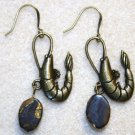 Accented Shrimp Earrings, Design 24 - Item #E456
