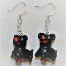 Black N' Red Pup Earrings - Item #E466