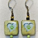Heart N' Pawprint Earrings - Item #E470