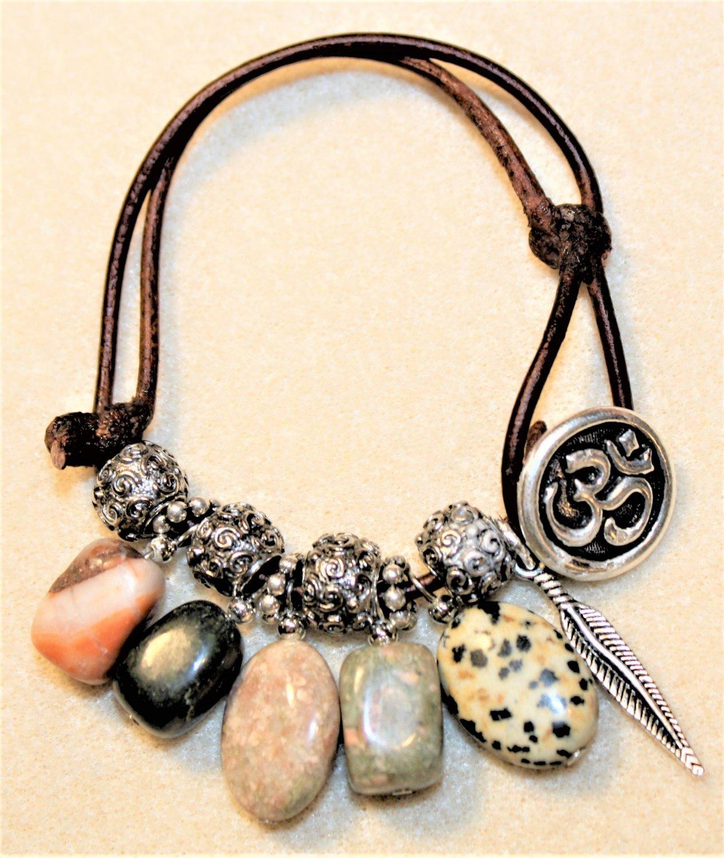 Gemstone Boho Bracelet - Item #B85