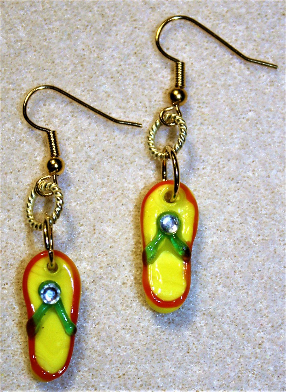 Sunny Flip Flop Earrings - Item #E483