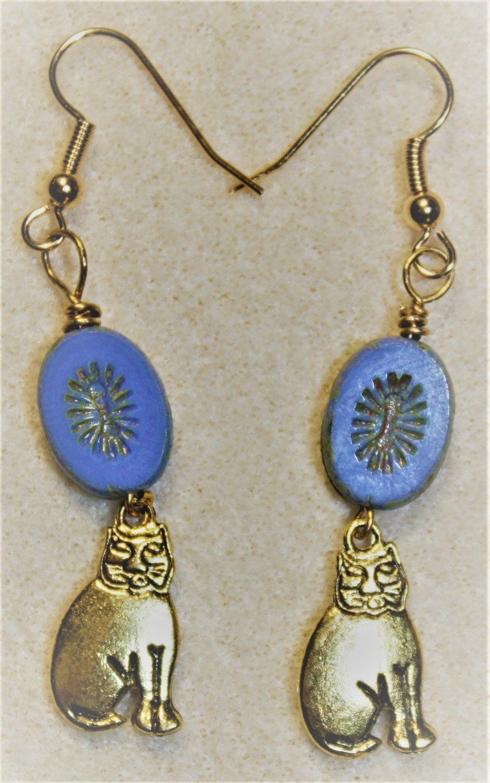 Czech N' Cheshire Cat Earrings - Item #E487