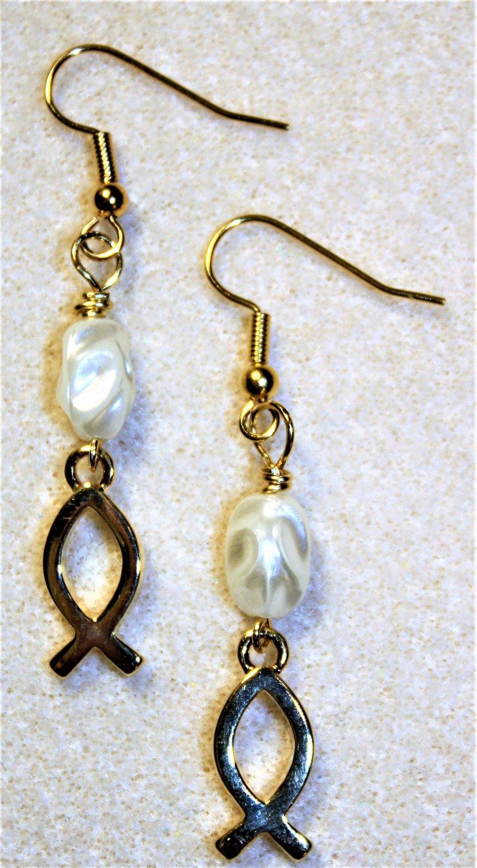 Christian Fish Symbol Earrings - Item #E495