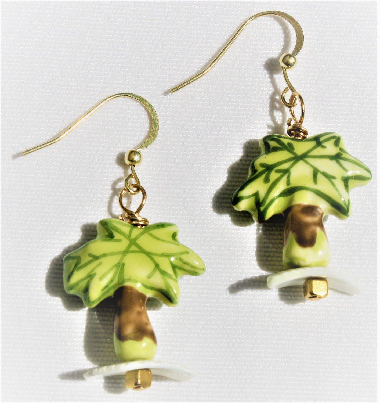 """Palm Trees On the Beach"" Earrings - Item #E516"