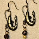 Accented Shrimp Earrings, Design 34 - Item #E527