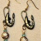 Accented Shrimp Earrings, Design 36 - Item #E529