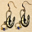 Accented Shrimp Earrings, Design 38 - Item #E531