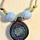 Raku Flower Necklace - Item #N27