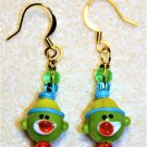 Red, Green, N' Blue Sock Monkey Earrings - Item #E534