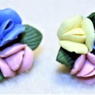 Porcelain Flower Earrings, Design 1 - Item #E539