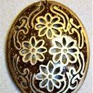 Carved Wood Floral Necklace - Item #N35