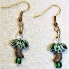 Mini Palm Tree Earrings, Design 2 - Item #E553