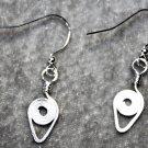 Silver Chevron Earrings - Item #E560