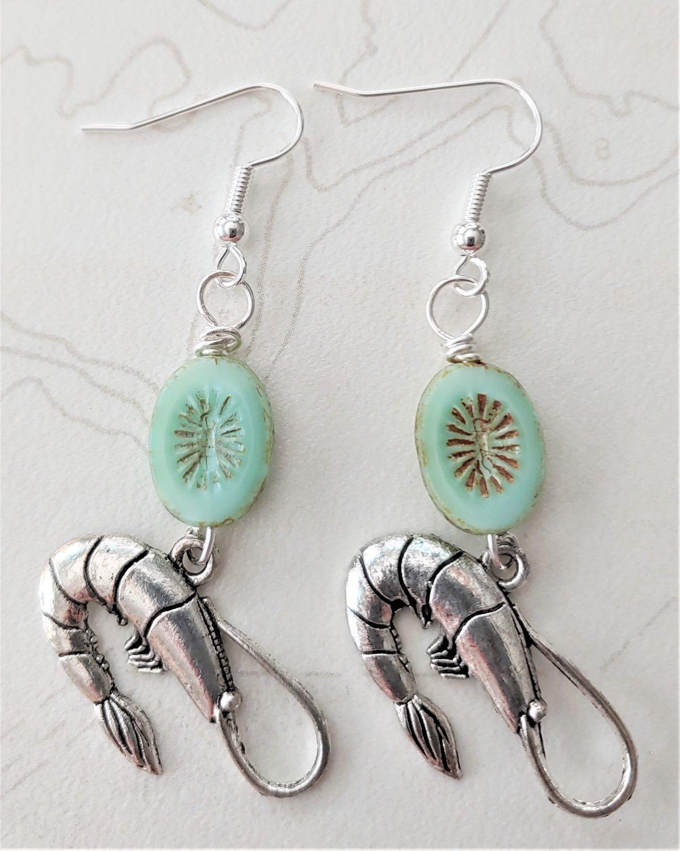Accented Shrimp Earrings, Design 42 - Item #E784
