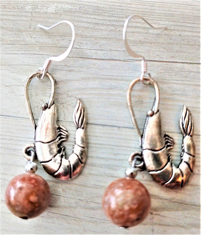Accented Shrimp Earrings, Design 46 - Item #E794