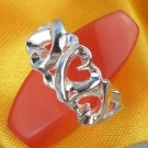 5 Heart Design Ring- .925 Sterling Silver