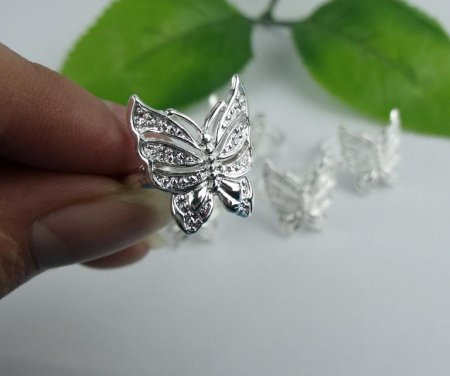 Butterfly Design Ring- .925 Sterling Silver