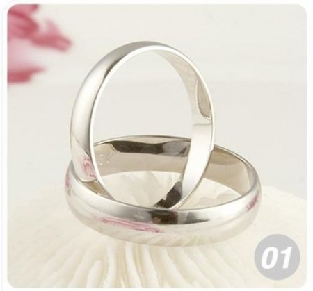 Plain Wedding Band Ring- .925 Sterling Silver