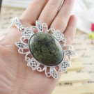 Necklace Fancy Tree Agate Gemstone .925 Sterling Silver