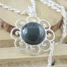 Necklace Fancy Botswana Agate Gemstone .925 Sterling Silver
