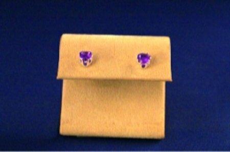 Earrings - Choice Of Gem Stone - Heart .925 Studs