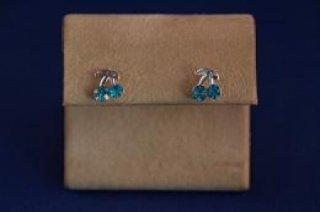 Earrings - Choice Of Gem Stone - Cherries .925 Studs