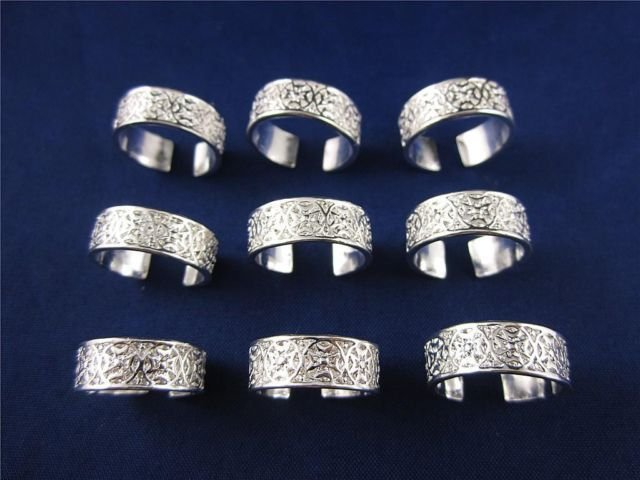.925 Sterling Silver Adjustable Toe Ring High Fashion