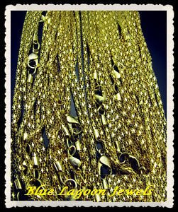 """Gold Plated Snake  Necklace Chain- 23"""" Long"""