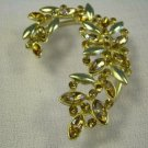 9k Gold Filled Round Champagne Austrian Crystals