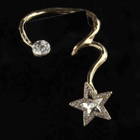 9k Gold Filled Clear Austrian Crystals Star
