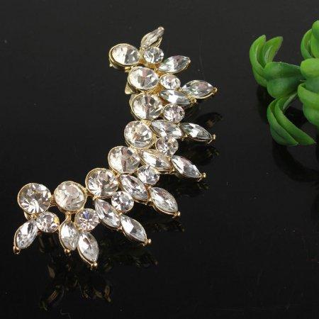 Ear Cuff - 9k. Gold Filled Austrian Clear Crystals