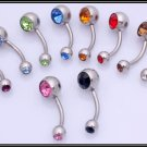 ( Navel ) Ring - Crystal 316L Surgical Stainless Steel