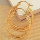 "Hoop Earrings - Triple 1"" - 9k Gold Filled"