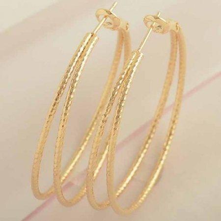 """Hoop Earrings Double 1.5""""  14k Gold Filled"""