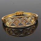 14k. Gold Filled Crystal Bracelet - Diamond Design