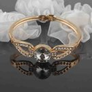 14k. Gold Filled Crystal Bracelet - Round Design