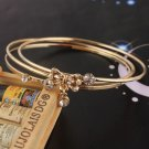 14kt. Gold Filled 3 Bangle Bracelets - Bow Design