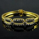 9k. Gold Filled Crystal Bracelet -3 Oval Design