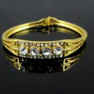 14k. Gold Filled Crystal Bracelet - Crystal Cluster