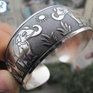 German Silver Bracelet. Design: Lucky Elephants #35