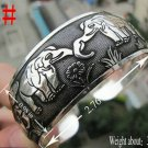 German Silver Bracelet. Design: Loving Elephants #8